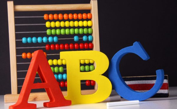 Learning tools ready with back to school background
